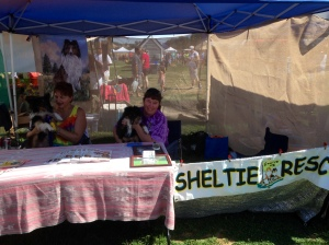 Sheltie Rescue Booth